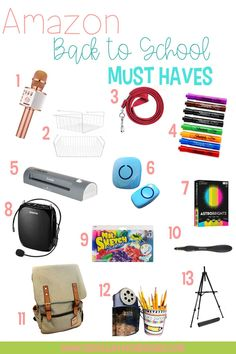 Wondering what back to school must haves are essential for teachers this year? Check out this post that's packed with 13 items from Amazon that are sure to make your school year run more smoothly. Click the pin to see which must haves you NEED this year! #backtoschool #backtoschoolmusthaves