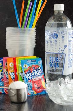 Learn how to make a slushie in your blender at home with just 4 ingredients. This homemade slushie recipe, using Kool-aid powder, is a summertime favorite and comes together in less than 5 minutes! Kid Drinks, Frozen Drinks, Yummy Drinks, Beverages, How To Make Slushies, Homemade Slushies, Berry, Fruit Smoothies, Gourmet