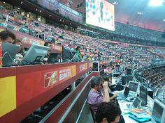 Imagen de la Tribuna de prensa del Estadio Olímpico de #Pekín2015.