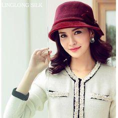 Women Winter Wool Hat-0701/Vintage Wool Fedoras/2015 Fashion Desigual Wool Hats & Caps/Autumn& Winter hat for Women