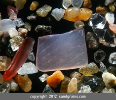 (SQUARE SAND) A square-shaped shell fragment is found amidst sand from Masaya, Nicaragua (magnification 80 times)