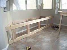 How to build your own window seat with hidden storage.