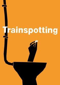 Trainspotting (Saul Bass Influenced Movie Poster) by Lewis Varty Best Movie Posters, Minimal Movie Posters, Minimal Poster, Cinema Posters, Poster S, Movie Poster Art, Poster Minimalista, Plakat Design, Cinema Movies