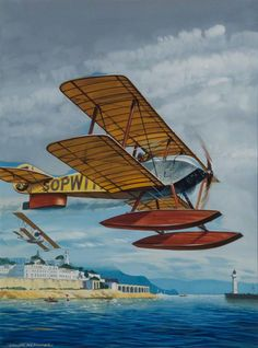 Kenneth McDonough:Gnome Sopwith Tabloid 1914, Schneider Trophy Winner Civil Aviation, Aviation Art, Air Traffic Control, Cat Stands, Kitten Rescue, Letting Go Of Him, Commercial Aircraft, Artist At Work, Illustrations Posters