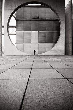 the pensieren circle, concrete architecture, geometrical
