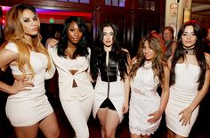 Grammy Week 2015 - Dinah Jane Hansen, Normani Hamilton, Camilla Cobello, Ally Brooke and Lauren Jauregui of Fifth Harmony attend the Sony Music Entertainment 2015 Post-Grammy Reception at The Palm on February 8, 2015 in Los Angeles, California.