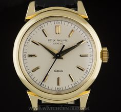 PATEK PHILIPPE 18K Y/G RARE RAMS HORN LUGS DOUBLE NAME RETAILED BY GUBELIN 1491 http://www.watchcentre.com/product/patek-philippe-18k-y-g-rare-rams-horn-lugs-double-name-retailed-by-gubelin-1491/4240
