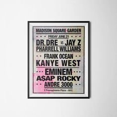 Dream Concert Poster Music Poster Dr Dre Jay Z by PrintClub