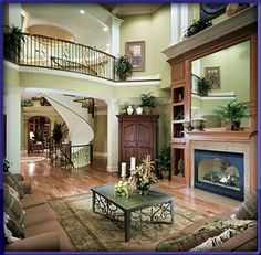 Plan European, Photo Gallery, Traditional, Premium Collection, Luxury House Plans & Home Designs Texas Style Homes, Country Style Homes, Custom Home Builders, Custom Homes, Garden Tub, Luxury House Plans, European House, Interior Photo, Beautiful Living Rooms