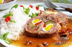 Beskydský závitek s rýži Pork Tenderloin Recipes, Pork Recipes, Cooking Recipes, Czech Recipes, Ethnic Recipes, Slovakian Food, Pork Meat, Food 52, Food Inspiration