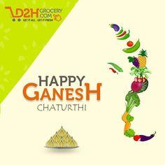 Shout out with Ganpati Bappa Moreya in a greener way !! Happy Ganesh Chaturthi #GoGreen!