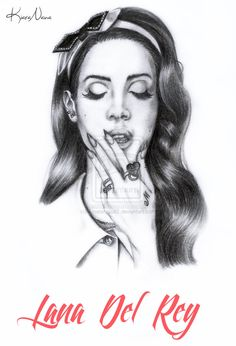 Lana Del Rey portrait.
