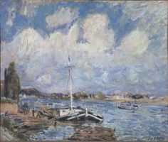 Boats on the Seine, 1877. Alfred Sisley