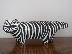 Bitossi black and white cat figure for Raymor