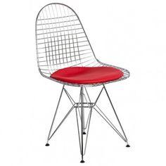 Główną i najbardziej rzucającą się w oczy cechą tego krzesła jest wykonanie go z chromowanego drutu, który dzięki uformowaniu w ergonomiczny kształt oraz dużej gęstości przeplotu zapewnia wysoki komfort osobie siedzącej. O ogromie pracy jaką trzeba włożyć w produkcje krzesła niech świadczy fakt, że samo siedzisko ma ponad 320 punktowych spawów. Dla zwiększenia komfortu użytkownika, krzesło jest wykończone poduszkami na siedzisku i oparciu. Poduszki te można jednak łatwo zdjąć.