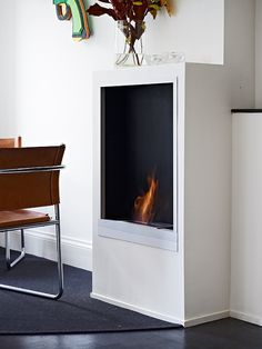 Building in an ethanol  fireplace.