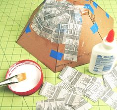 Diy Cardboard Display Bowl - Template & Tutorial