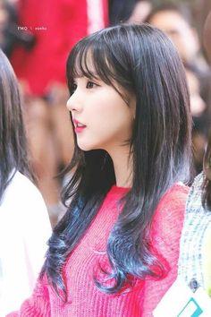 Gfriend-Eunha Her Long hair Extended Play, Korean Bangs, Ulzzang, Entertainment, G Friend, Girls Makeup, Beautiful Asian Girls, K Idols, Me As A Girlfriend