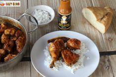 Lazy Blog: Pollo por las bravas, una nueva forma de disfrutar con amigos Pollo Chicken, Chicken Wings, Barbacoa, Pollo Guisado, Lazy, Madrid, Meat, Cooking, Barbecue
