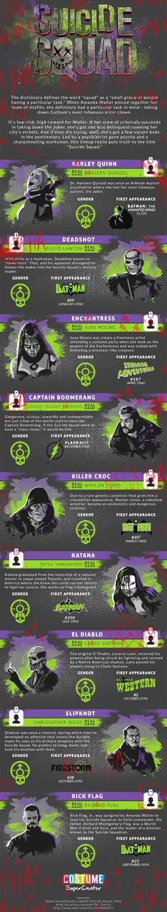 Meet the Suicide Squad [Infographic] http://geekxgirls.com/article.php?ID=7450