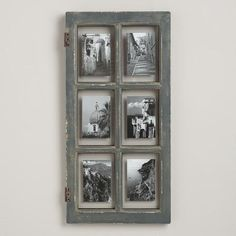 Gray Windowpane Frame