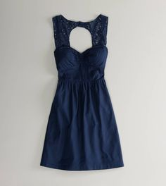 American Eagle navy blue dress; perfect for our laid back beach wedding bridesmaids!
