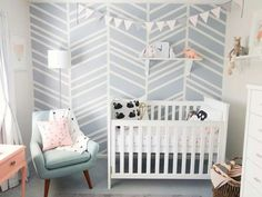 Muted colour palette for a nursery (via Ann-Marie Espinoza).