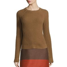 BOSS Primal Allure Virgin Wool & Cashmere Blend Sweater ($255) ❤ liked on Polyvore featuring tops, sweaters, apparel & accessories, rust, raglan top, sweater pullover, cashmere blend sweater, ribbed top and pullover sweaters