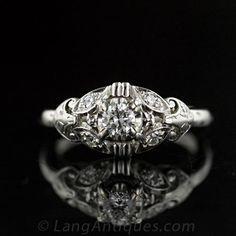 Granat Brothers Diamond Engagement Ring, Circa 1950's - $1,250