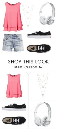 """""""Beautiful days"""" by injuss ❤ liked on Polyvore featuring VILA, Levi's, Charlotte Russe and Vans"""
