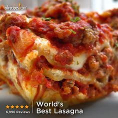7,000 reviews | ready in 3 hours | World's Best Lasagna