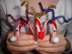 How To Make Candy Cane Reindeer - Christmas Crafts Ideas Using Candy