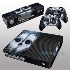 for X box One Console Kinect 2 free Controller Covers Special Skull Skin Sticker #UnbrandedGeneric #Skull