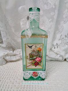 Vintage French Graphic on Medicine Bottle by CelestinaMarieDesign