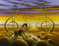 Pintura al oleo del Pintor Joe Joubert. Nacido en el distrito de Kalahari, Sudáfrica 1963.