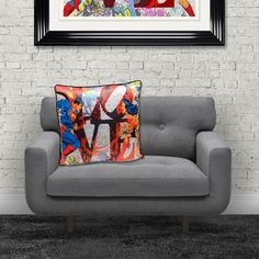 Superhero Cushions Official Marvel DC Comic Gifts Home Comic Book Accessories Gifts Superman and Batman with Wonder Woman Spiderman The Hulk Ironman all fighting on the same team Marvel Dc Comics, A Comics, Dc Comic Books, Comic Art, Comic Book Printing, Superhero Gifts, Furniture Care, Iconic Characters, Printing On Fabric
