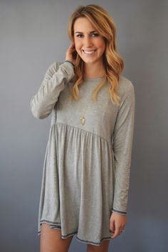 Cottonwood Stitched Dress Grey