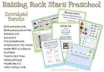 """Raising Rock Stars"" preschool and kindergarten literacy units to buy.  Looks fun and inexpensive!"