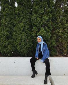 Modern Hijab Fashion, Street Hijab Fashion, Hijab Fashion Inspiration, Muslim Fashion, Modest Fashion, Look Fashion, Fashion Outfits, High Fashion, Casual Hijab Outfit