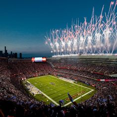 """Chicago Bears's Instagram post: """"Dreamin' of 🏈. What's your all-time favorite 🐻 home game?"""" Soldier Field, Chicago Bears, Baseball Field, All About Time, Games, Instagram Posts, Gaming, Plays, Game"""