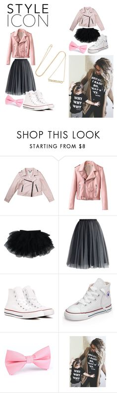 """""""Matching pinky style"""" by vintageayla ❤ liked on Polyvore featuring Milly, Chicwish, Converse and Jennifer Meyer Jewelry"""