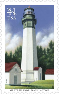 In 2007 the U.S. Postal Service continued its popular series of lighthouse stamps by artist Howard Koslow with the issuance of the Pacific Lighthouses stamps. At 107 feet, Grays Harbor Lighthouse -- also known as Westport Lighthouse -- is the tallest lighthouse in the state of Washington and one of the tallest on the Pacific Coast.