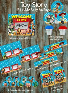 Toy Story Printable Party Package, Toy Story Birthday Party Ideas