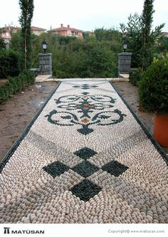 55 best front yard pathway landscaping ideas 33 – Home Design Ideas - All For Garden Pebble Mosaic, Mosaic Diy, Stone Mosaic, Rock Pathway, Pathway Ideas, Landscape Design, Garden Design, Path Design, Front Yard Landscaping