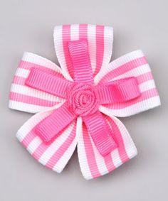 Ribbon Flower hair bow