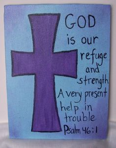 Cross and Scripture Acrylic Painting by MoonbeamsDesigns on Etsy, $25.00