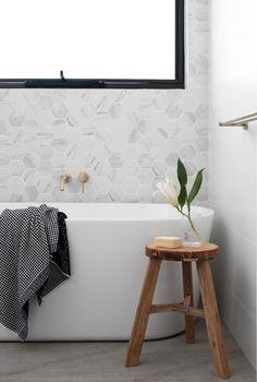 Gallery - TileCloud Bathroom Renos, Bathroom Renovations, Bathroom Interior, Bathrooms, Three Birds Renovations, Family Bathroom, Clawfoot Bathtub, Interior Design Inspiration, Industrial