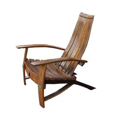 Wine Barrel Adirondack Chair Left