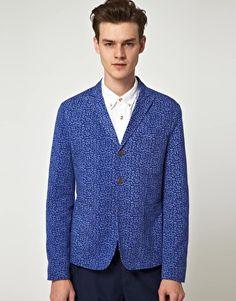 ASOS Slim Fit Leopard Blazer
