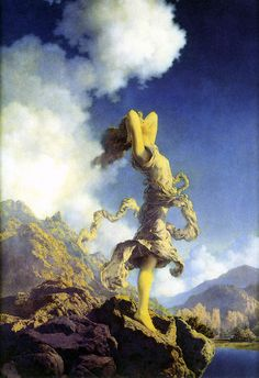 Maxfield Parrish - Ecstasy. I've been a fan of Maxfield Parrish since college when I began studying color and light. He was a master.
